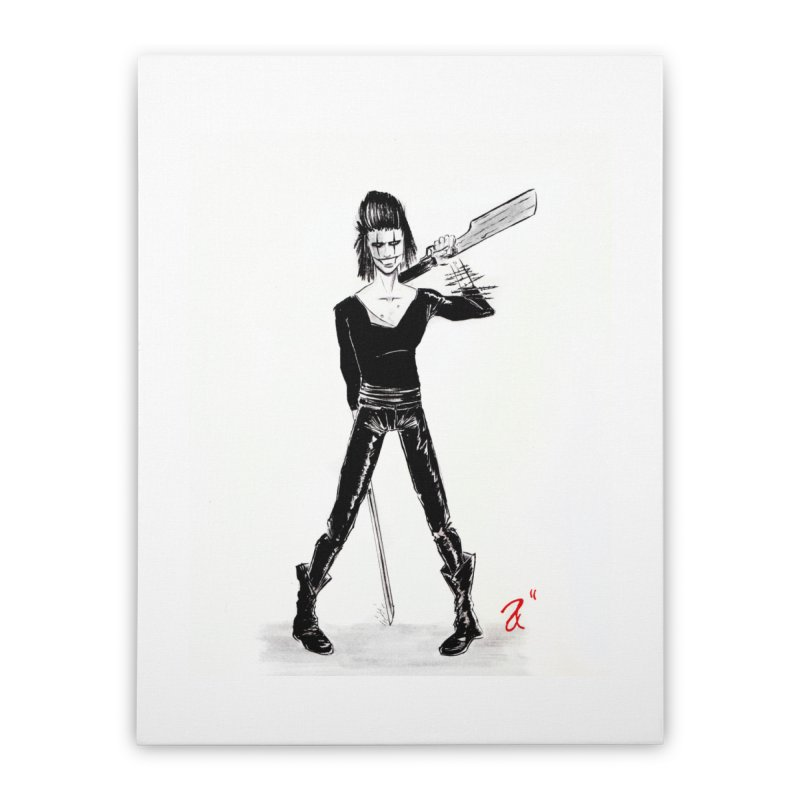 Draven Home Stretched Canvas by Arcade's Art Shoppe
