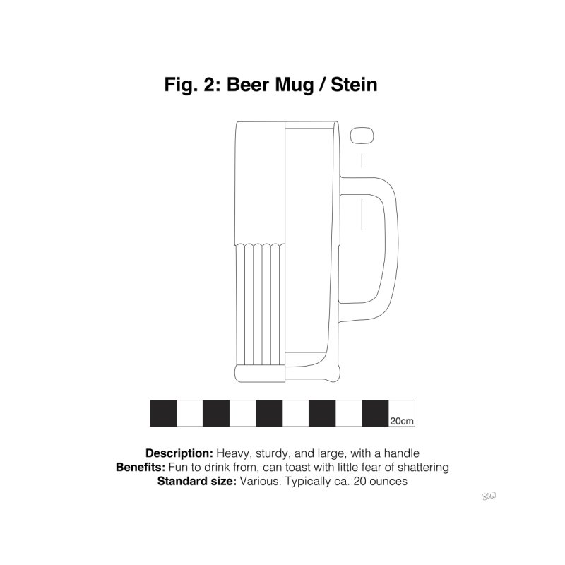 Beer Mug - Archaeological Drawing Home Fine Art Print by archaeobarware's Artist Shop