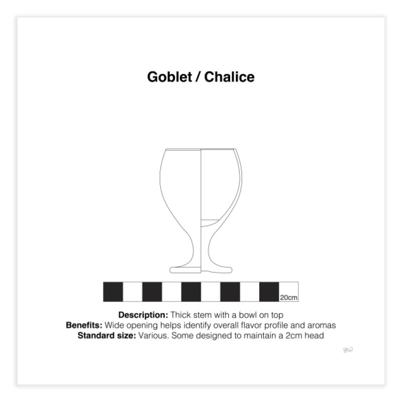 Goblet - Archaeological Drawing Home Fine Art Print by archaeobarware's Artist Shop