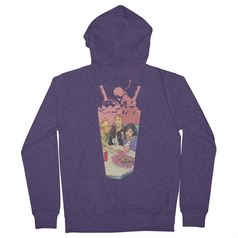 Milkshake Men's French Terry Zip-Up Hoody by Archie Comics