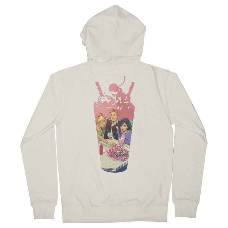 Milkshake Men's French Terry Zip-Up Hoody by archiecomics's Artist Shop