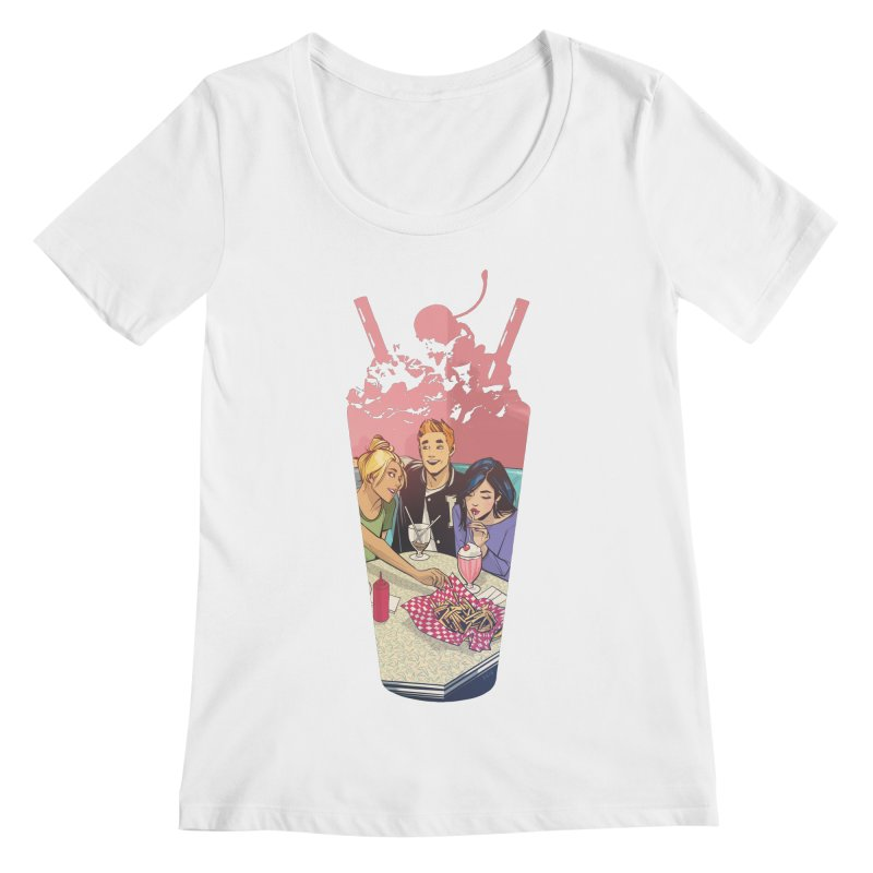 Milkshake Women's Regular Scoop Neck by archiecomics's Artist Shop