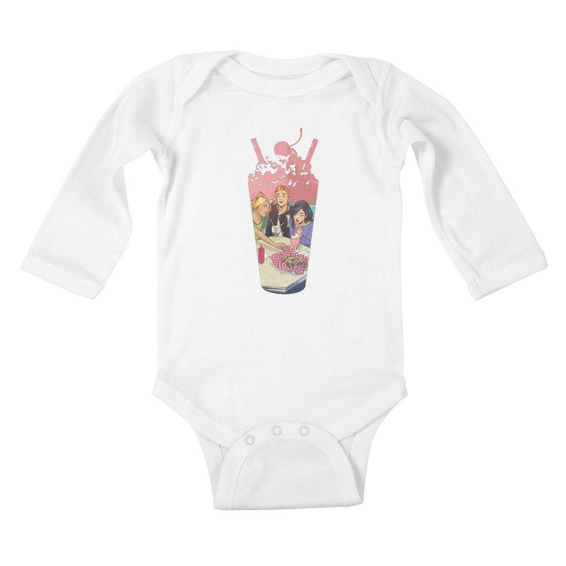 Milkshake Kids Baby Longsleeve Bodysuit by archiecomics's Artist Shop