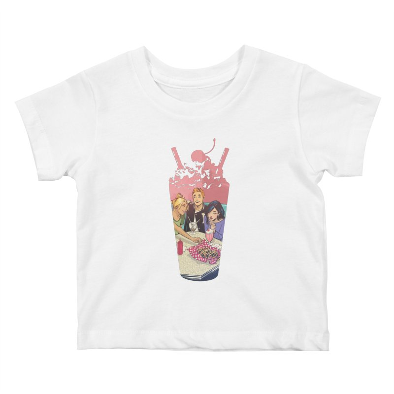 Milkshake Kids Baby T-Shirt by archiecomics's Artist Shop