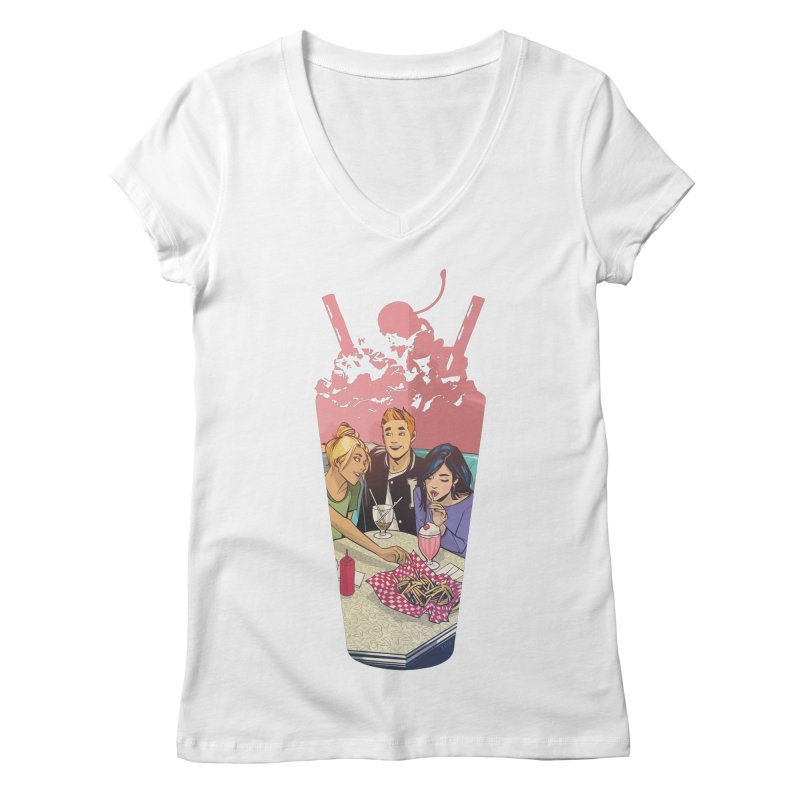 Milkshake Women's V-Neck by archiecomics's Artist Shop