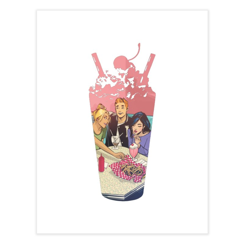 Milkshake Home Fine Art Print by archiecomics's Artist Shop