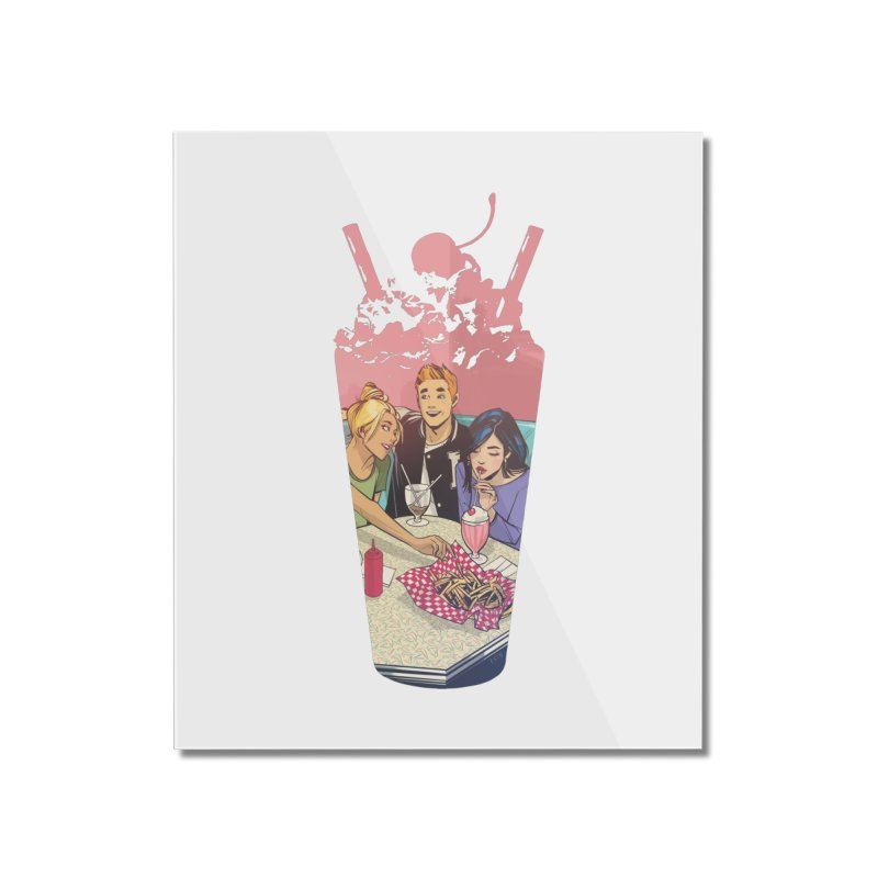 Milkshake Home Mounted Acrylic Print by archiecomics's Artist Shop