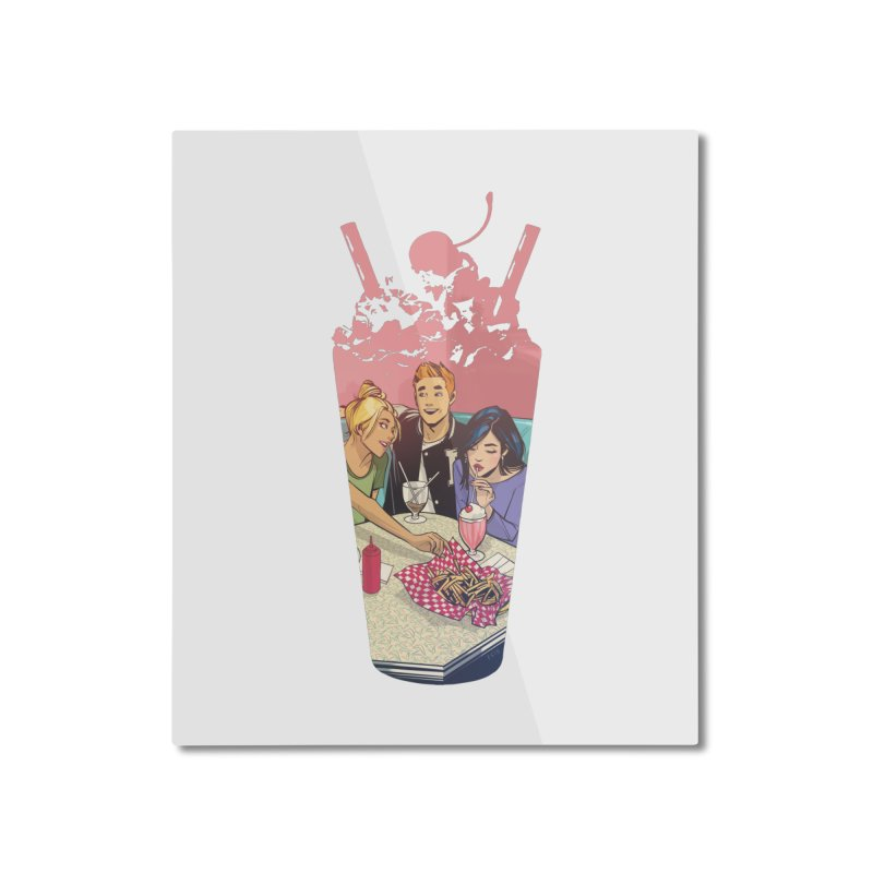 Milkshake Home Mounted Aluminum Print by archiecomics's Artist Shop