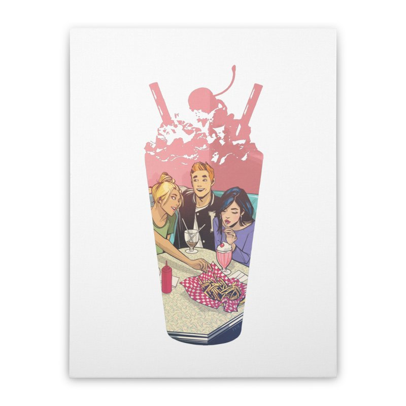 Milkshake Home Stretched Canvas by archiecomics's Artist Shop