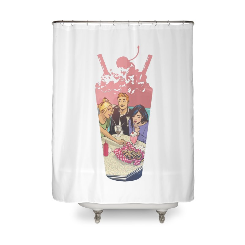Milkshake Home Shower Curtain by archiecomics's Artist Shop