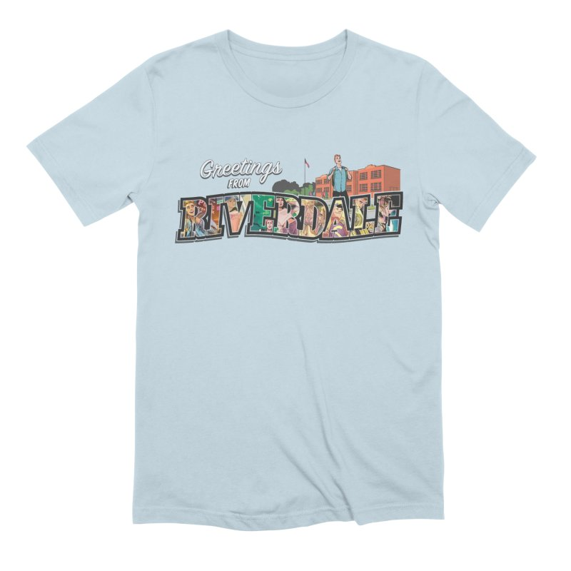 Greetings from Riverdale  in Men's Extra Soft T-Shirt Baby Blue by Archie Comics