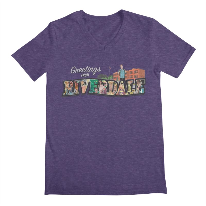 Greetings from Riverdale  Men's Regular V-Neck by archiecomics's Artist Shop