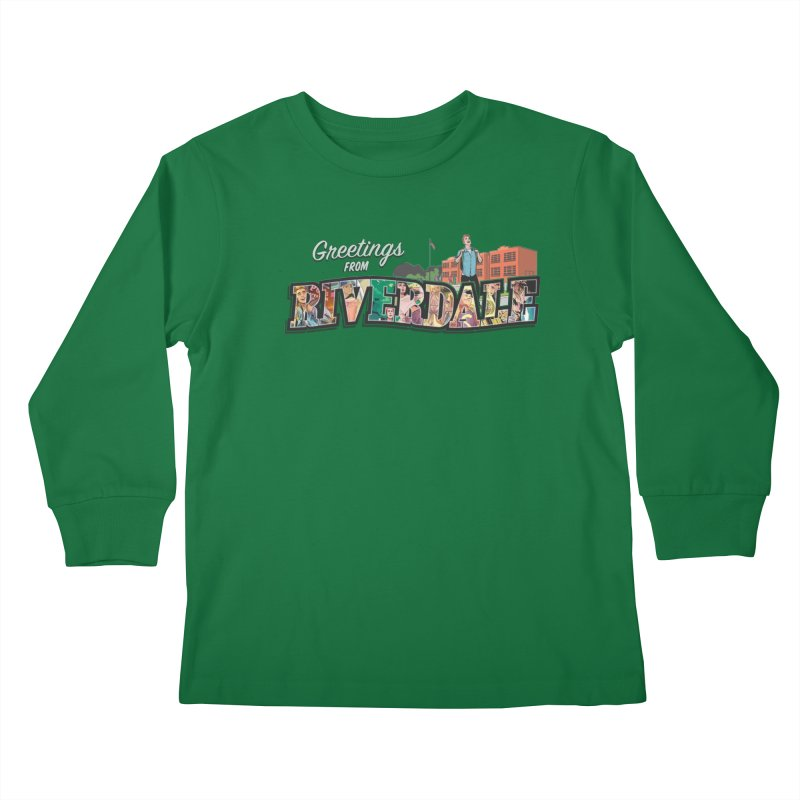 Greetings from Riverdale  Kids Longsleeve T-Shirt by archiecomics's Artist Shop