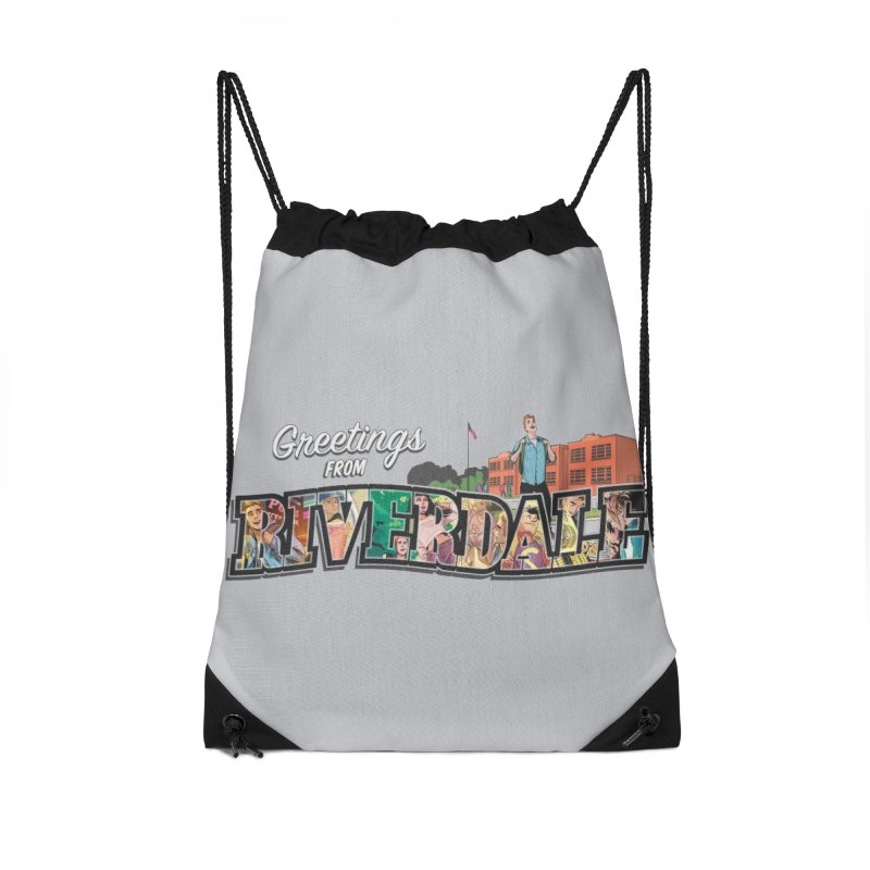 Greetings from Riverdale  Accessories Drawstring Bag Bag by Archie Comics