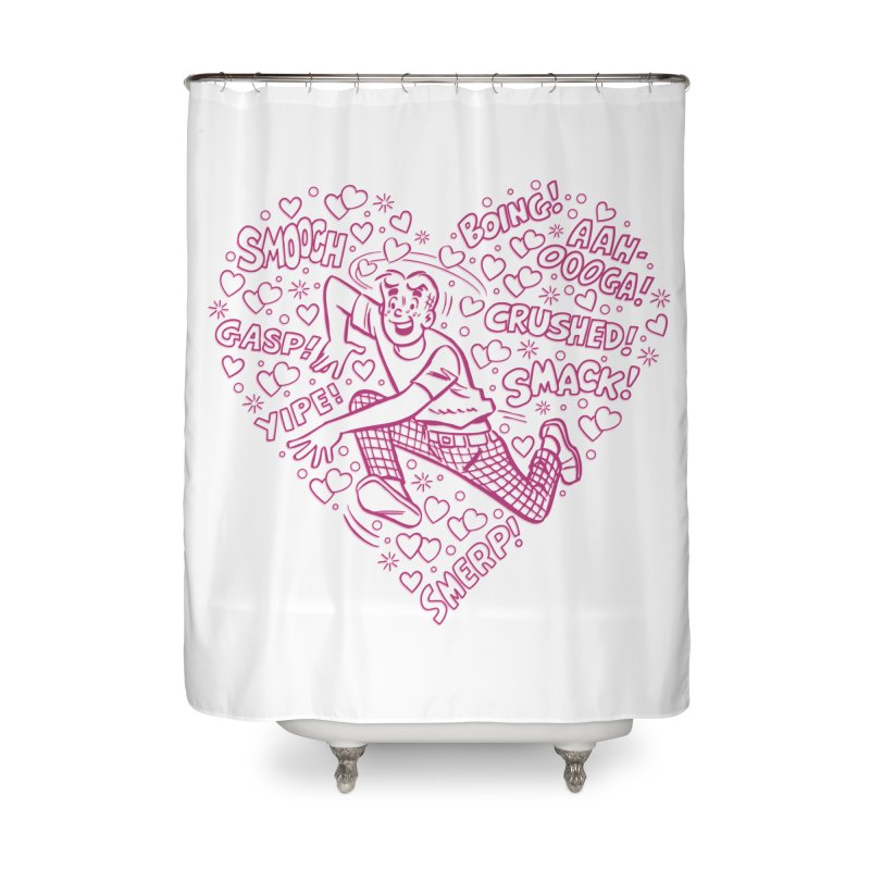 Archie In Love Home Shower Curtain by Archie Comics