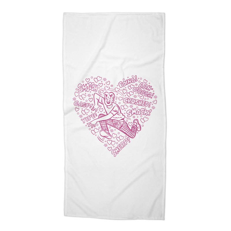 Archie In Love Accessories Beach Towel by Archie Comics