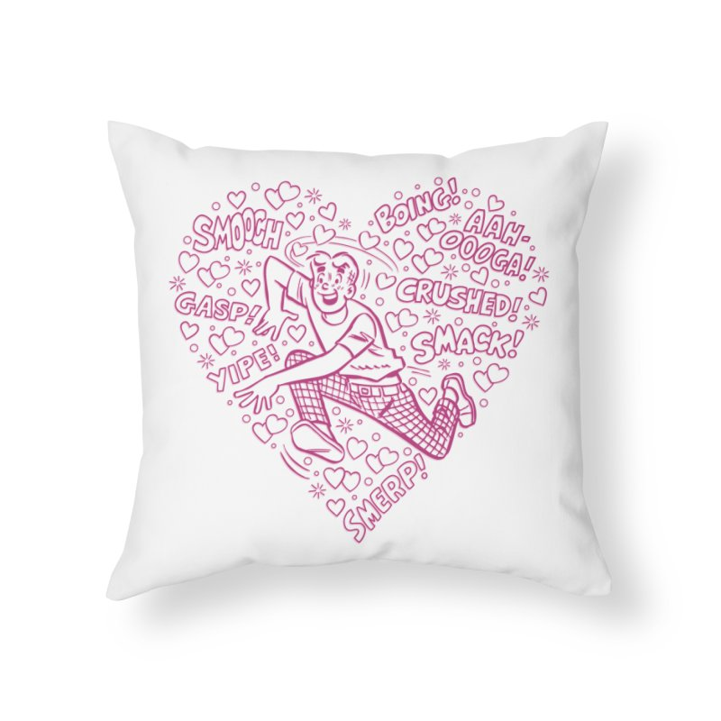 Archie In Love Home Throw Pillow by Archie Comics