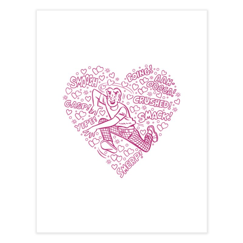 Archie In Love Home Fine Art Print by Archie Comics