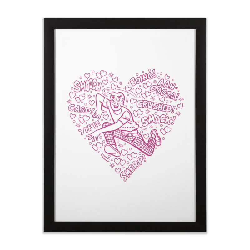 Archie In Love Home Framed Fine Art Print by Archie Comics