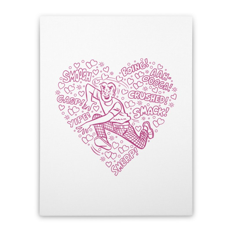 Archie In Love Home Stretched Canvas by Archie Comics