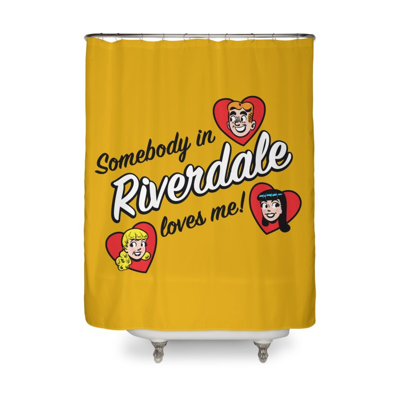 Somebody In Riverdale Loves Me Home Shower Curtain by Archie Comics
