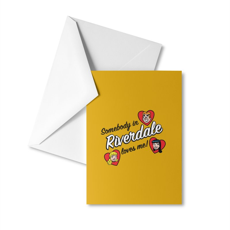 Somebody In Riverdale Loves Me Accessories Greeting Card by Archie Comics