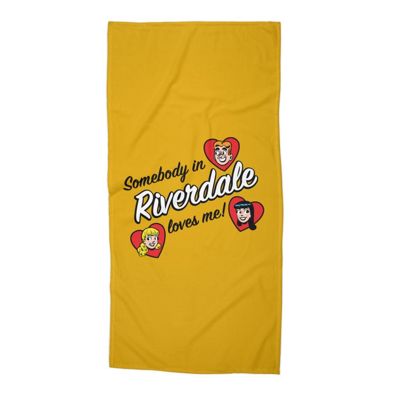 Somebody In Riverdale Loves Me Accessories Beach Towel by Archie Comics