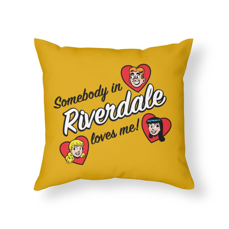 Somebody In Riverdale Loves Me Home Throw Pillow by Archie Comics