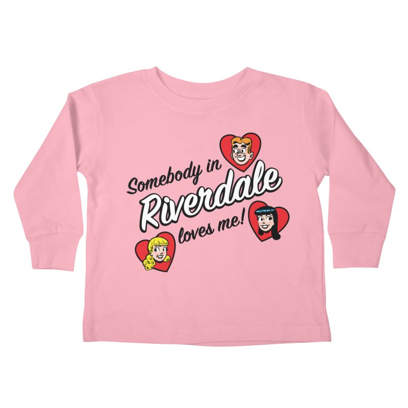Somebody In Riverdale Loves Me Kids Toddler Longsleeve T-Shirt by Archie Comics