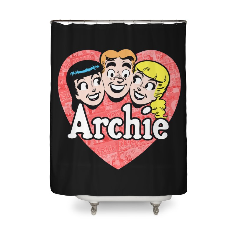 RetroArchieHeart Home Shower Curtain by Archie Comics
