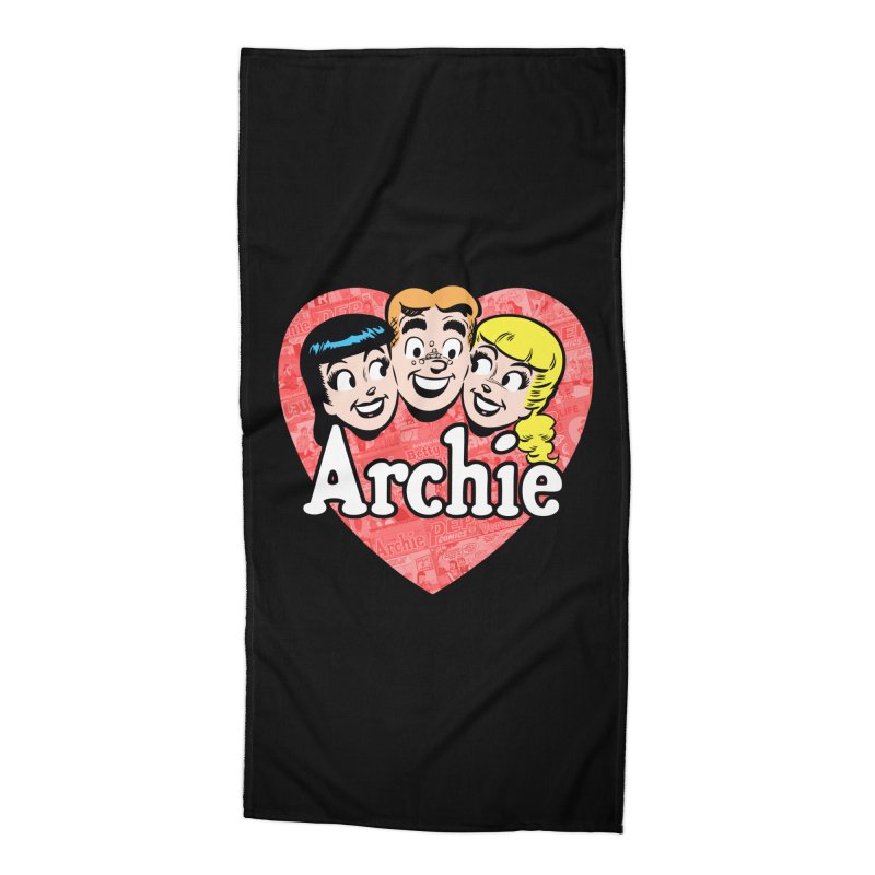RetroArchieHeart Accessories Beach Towel by Archie Comics