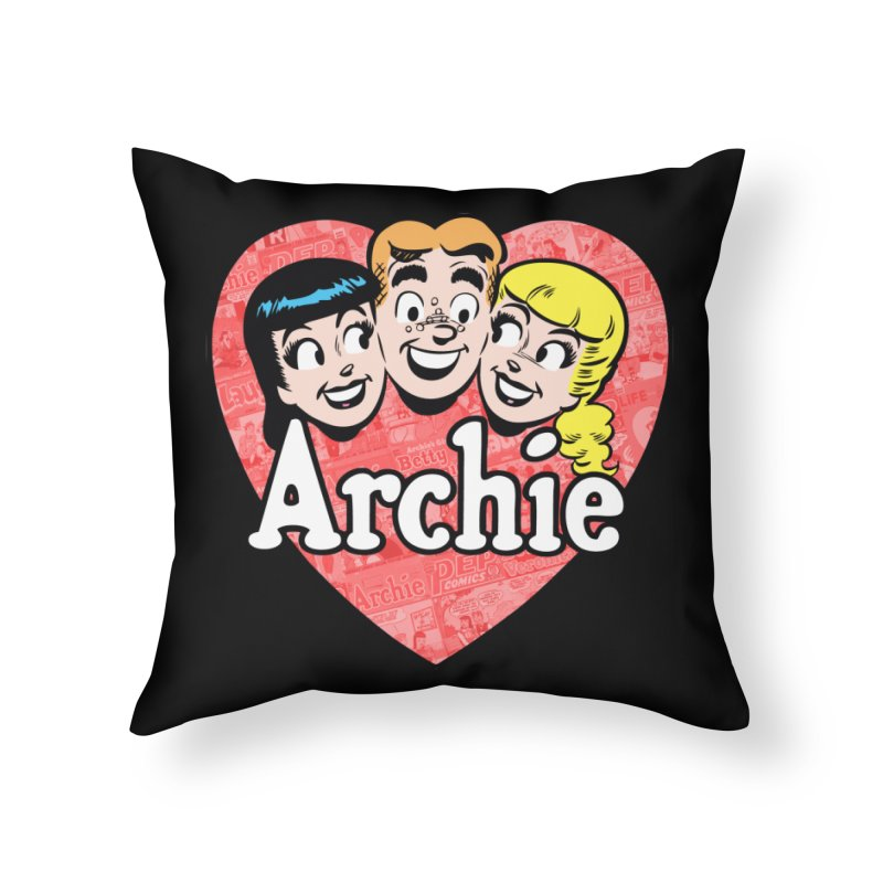 RetroArchieHeart Home Throw Pillow by Archie Comics