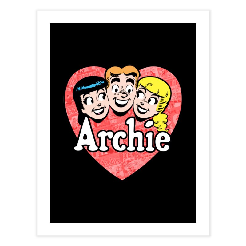 RetroArchieHeart Home Fine Art Print by Archie Comics
