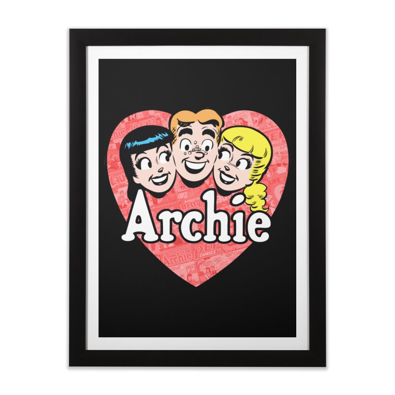 RetroArchieHeart Home Framed Fine Art Print by Archie Comics