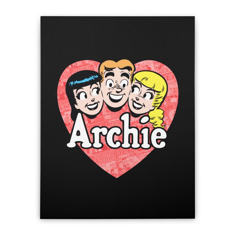 RetroArchieHeart Home Stretched Canvas by Archie Comics