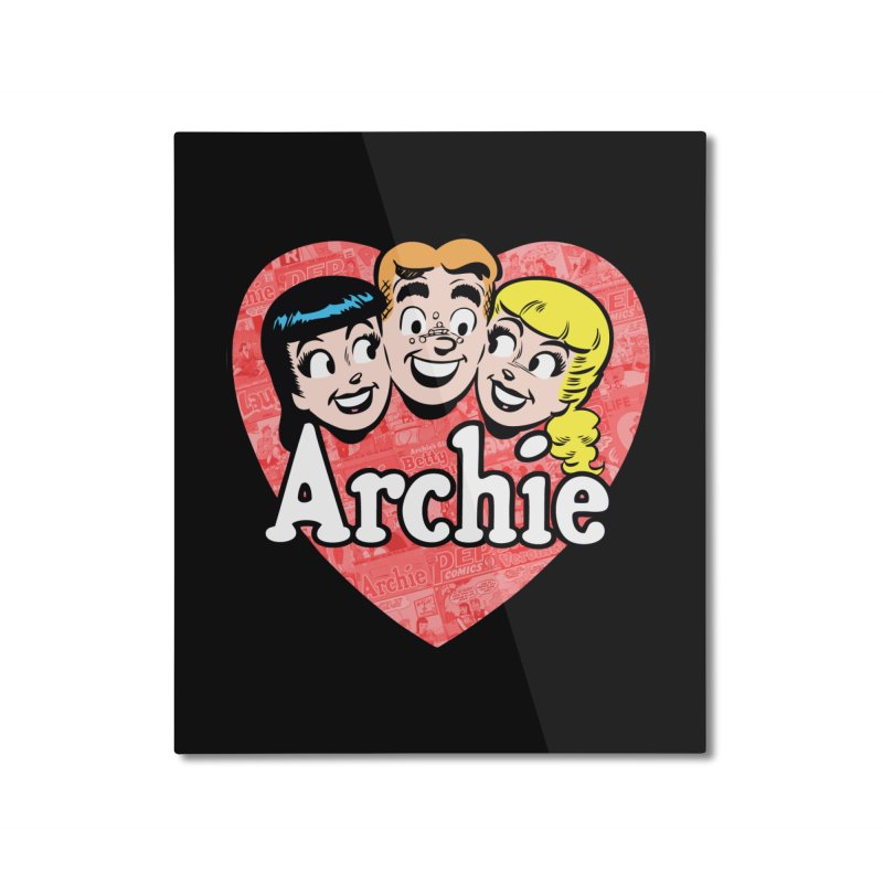 RetroArchieHeart Home Mounted Aluminum Print by Archie Comics