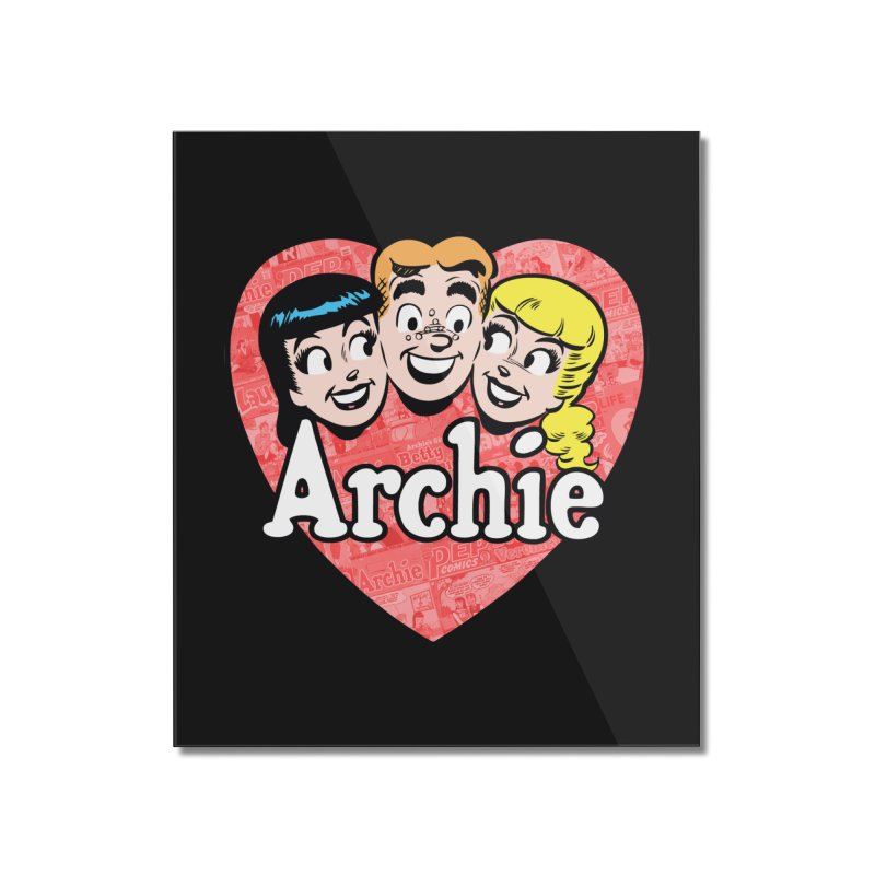 RetroArchieHeart Home Mounted Acrylic Print by Archie Comics