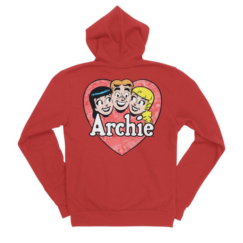 RetroArchieHeart Men's Zip-Up Hoody by Archie Comics
