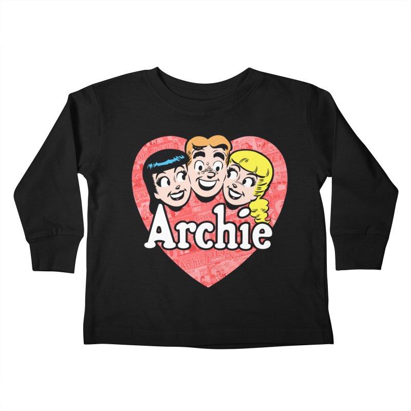 RetroArchieHeart Kids Toddler Longsleeve T-Shirt by Archie Comics