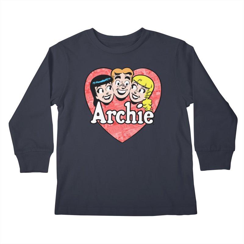 RetroArchieHeart Kids Longsleeve T-Shirt by Archie Comics
