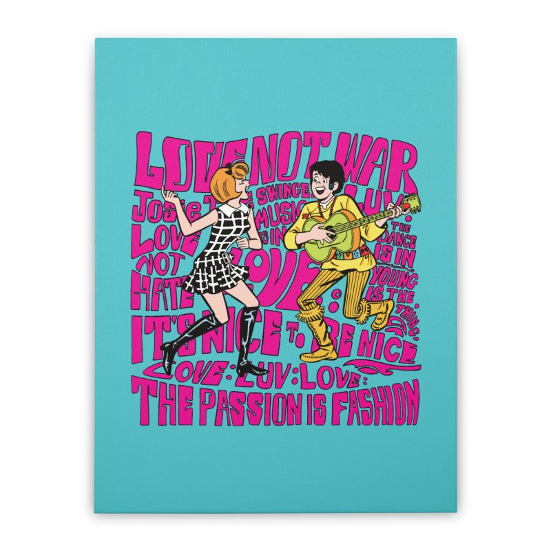 Josie Love Home Stretched Canvas by Archie Comics