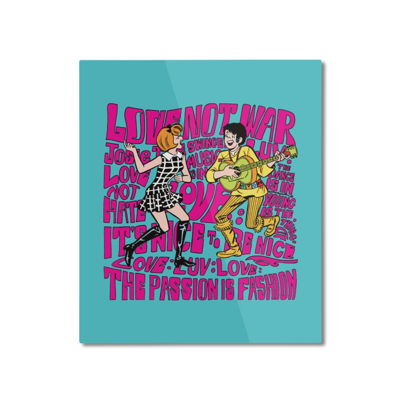 Josie Love Home Mounted Aluminum Print by Archie Comics