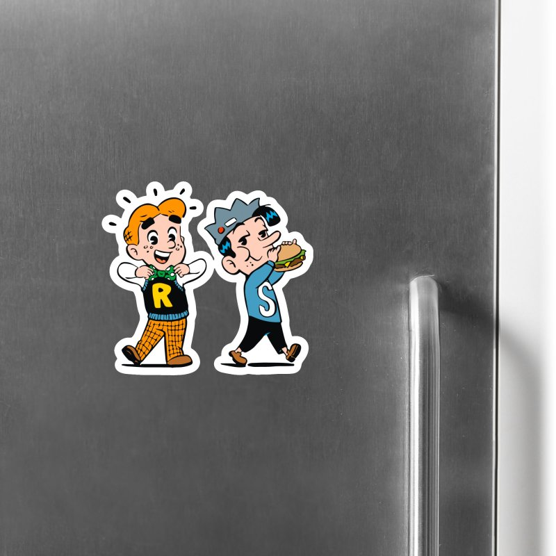 Bite Sized Archie And Jughead Accessories Magnet by Archie Comics