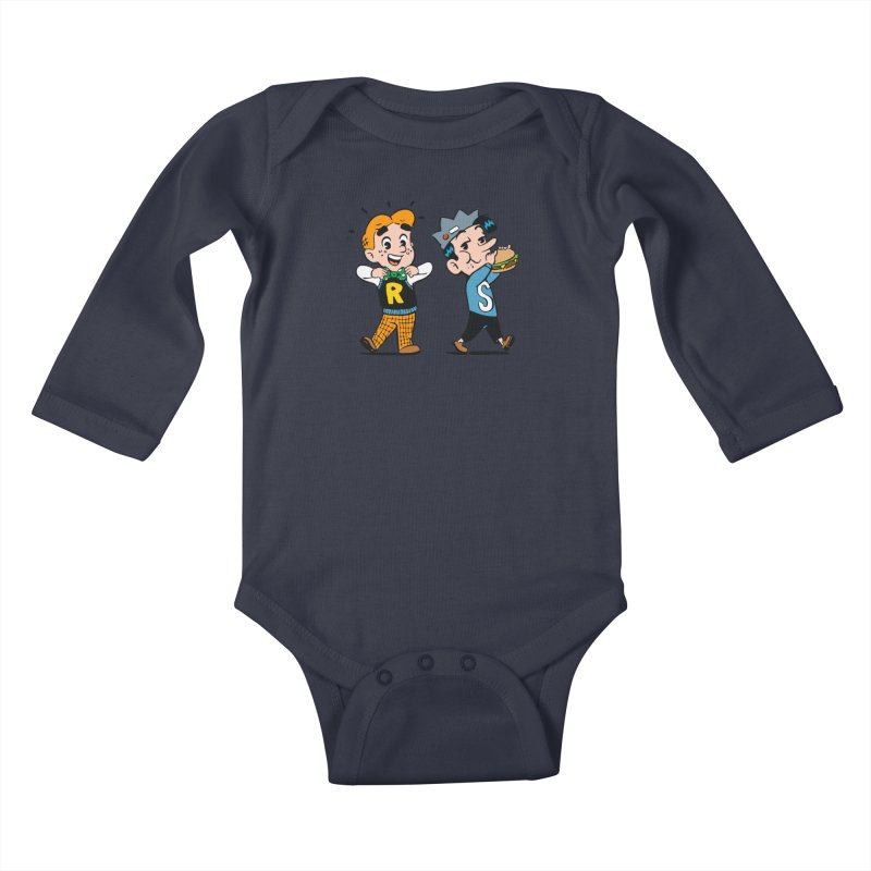 Bite Sized Archie And Jughead Kids Baby Longsleeve Bodysuit by Archie Comics