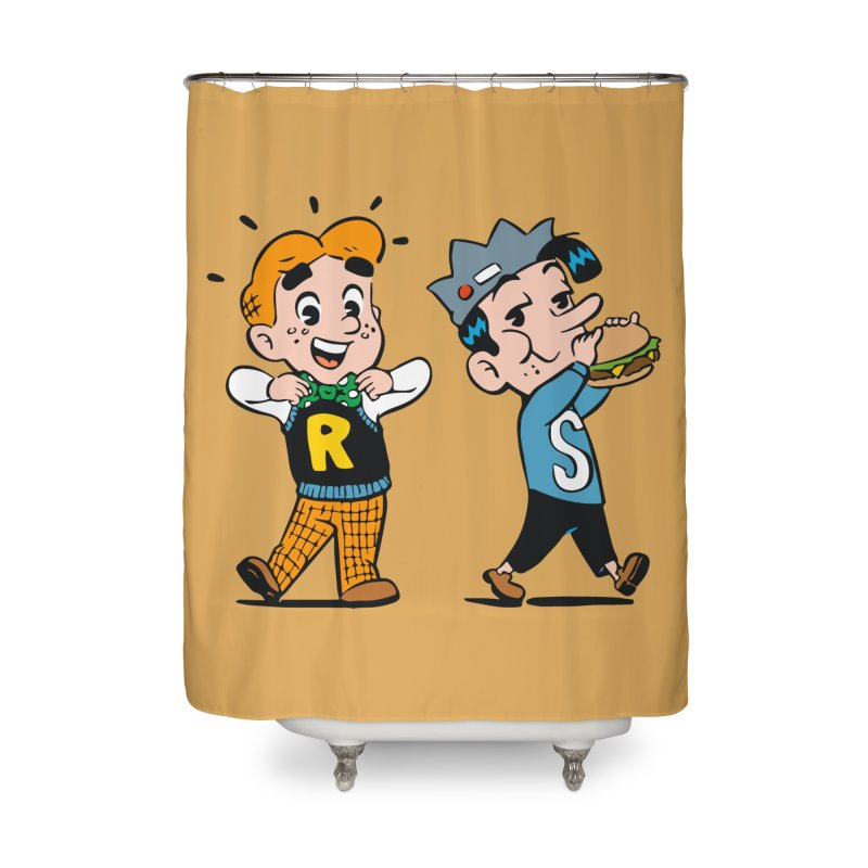 Bite Sized Archie And Jughead Home Shower Curtain by Archie Comics