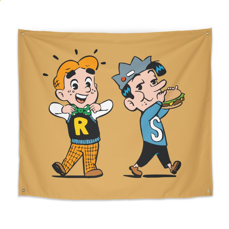 Bite Sized Archie And Jughead Home Tapestry by Archie Comics