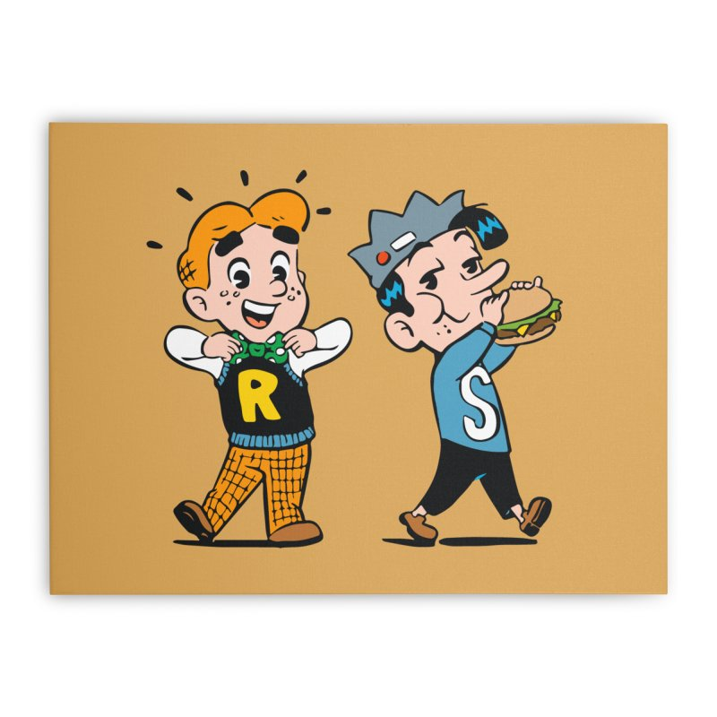 Bite Sized Archie And Jughead Home Stretched Canvas by Archie Comics