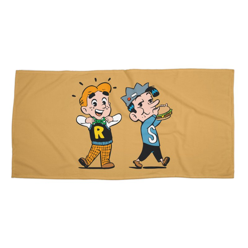 Bite Sized Archie And Jughead Accessories Beach Towel by Archie Comics