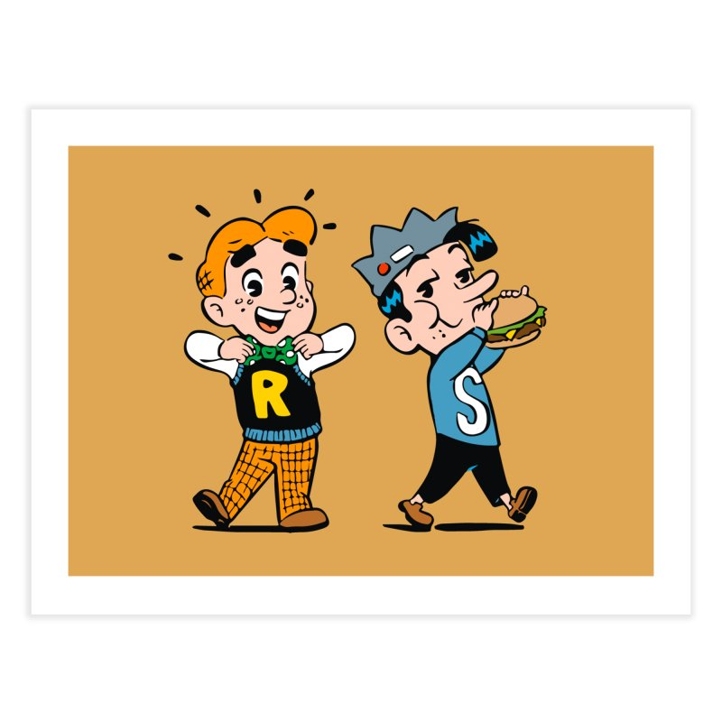 Bite Sized Archie And Jughead Home Fine Art Print by Archie Comics