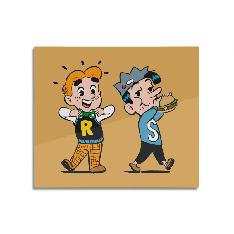 Bite Sized Archie And Jughead Home Mounted Aluminum Print by Archie Comics